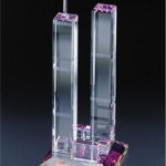 World Trade Towers Crystal Figurine