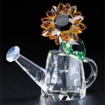 Sunflower crystal figurine from Crystal World