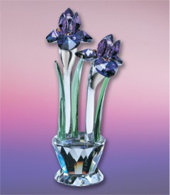 Iris Crystal Figurine